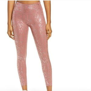 Sweaty Betty Disco Metallic 7/8 Leggings Size M
